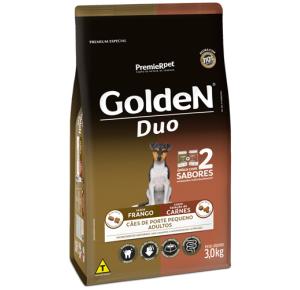 Ração Golden Duo  para Cães Adultos Raças Pequenas - Frango e Seleção de Carnes 3kg