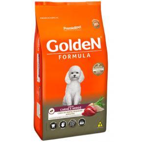 Ração Golden Fórmula para Cães Adultos Raças Pequenas - Carne e Arroz 3kg