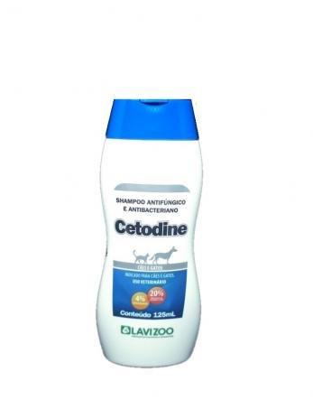 Cetodine 125 ml Shampoo antibactericida cães e gatos - Lavizoo