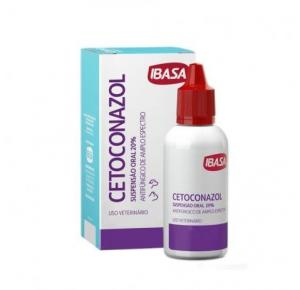 Antifúngico Cetoconazol Suspensão 20% Oral 20ml Ibasa