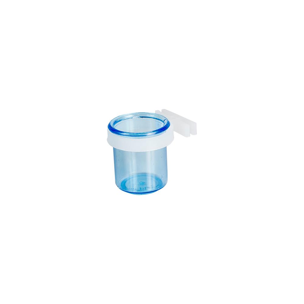 Porta Vitamina  com Presilha Fechada Azul Pequeno