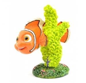 Enfeite Para Aquário Nemo No Coral Verde