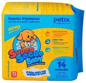 Tapete Higiênico Super Secão Baby Petix para Cães C 14Und