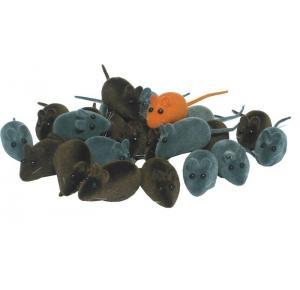 Briquedo Ratinho Veludo Colorido Ws Pet