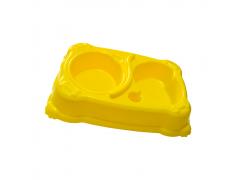 Comedouro E Bebedouro Médio 550Ml Cores Jet Plast