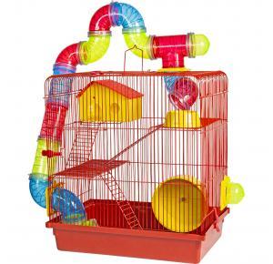 Gaiola para Hamster 3 Andares Tubo Luxo Jet Plast