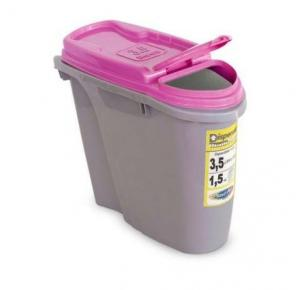 Porta Ração Dispenser Home 3,5L Rosa