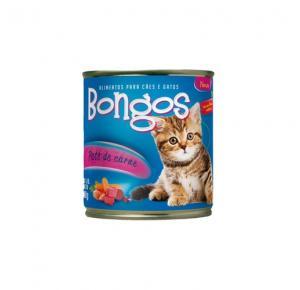Patê Enlatado Bongos para Gatos Sabor Carne 280 Gr