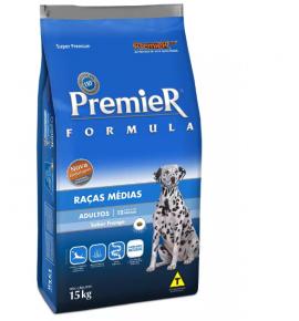 Ração Premier Fórmula para Cães Adultos de Raças Médias Sabor Frango 15kg