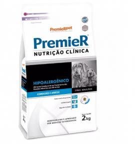 Ração Premier Nutrição Clínica Hipoalergênico para Cães Adultos 2kg