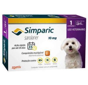 Antipulgas Simparic Cães de 2,6 a 5 Kg (1 Comprimido)