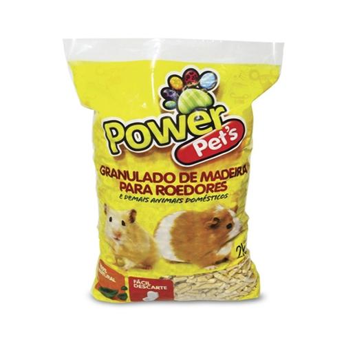 Granulado de Madeira Power Pets para Roedores - 2kg