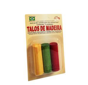 Talos De Madeira Roedores 3Unidades PetPira