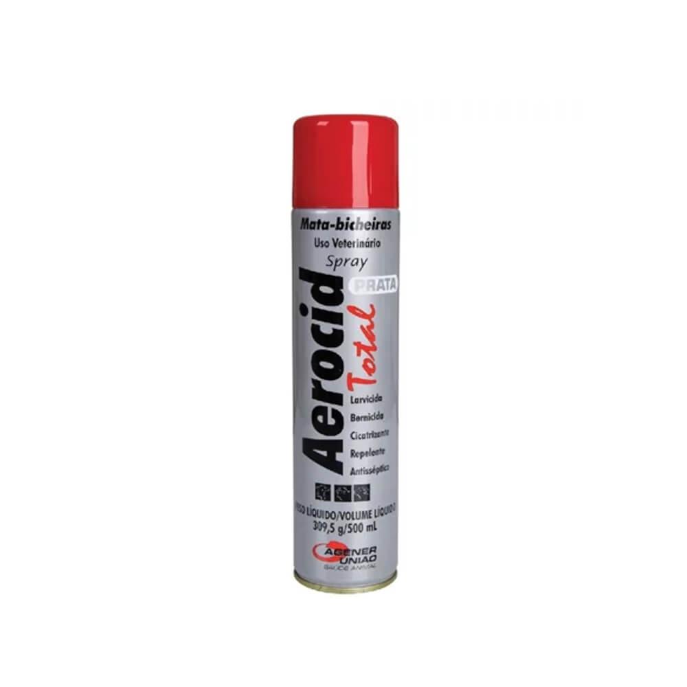Aerocid Total Prata Spray 500ml Agener União