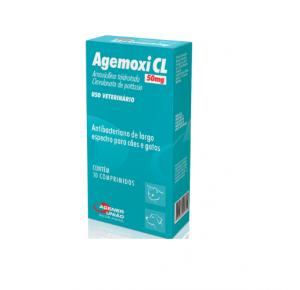 Agemoxi CL 50mg antibacteriano para cães e gatos