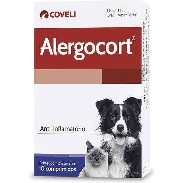 Anti-inflamatório Coveli Alergocort para Cães e Gatos - 10 comprimidos