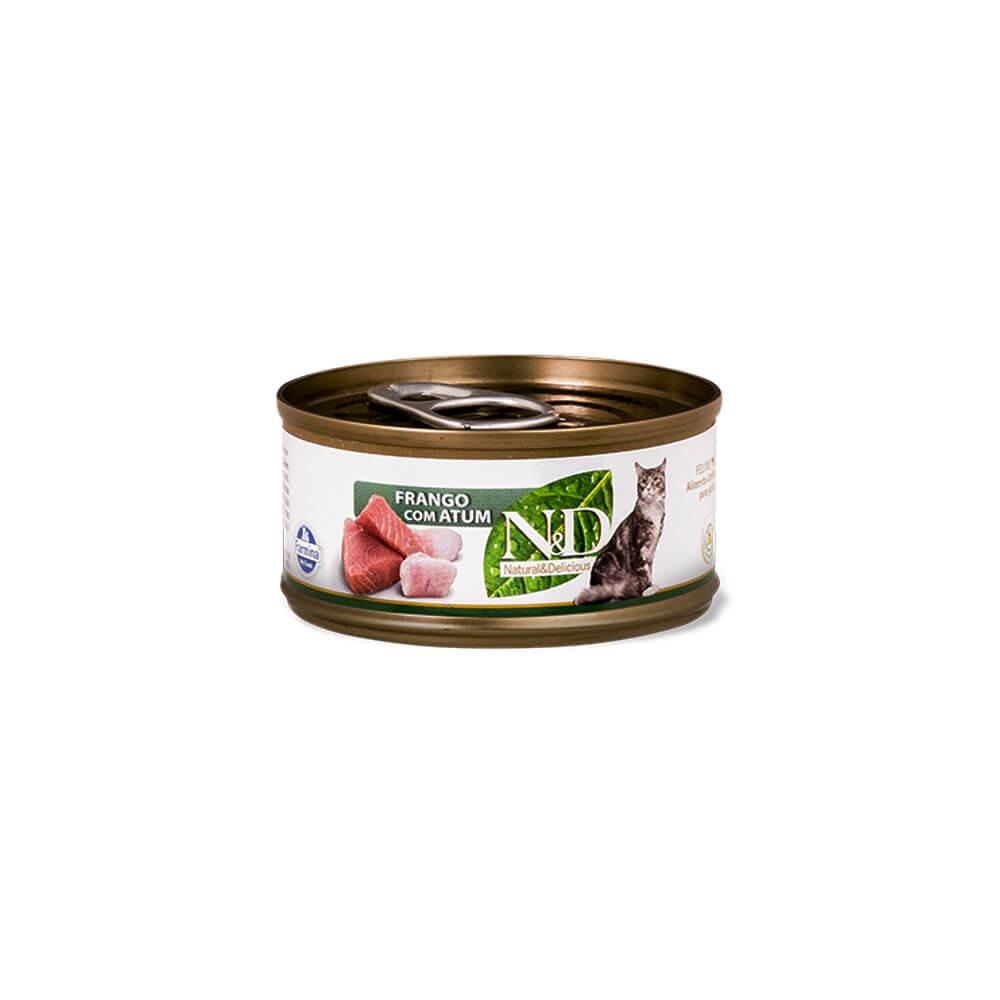 Alimento Úmido N&D Feline Frango com Atum 70g