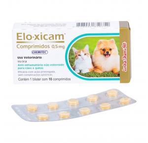 Anti-Inflamatório Elo-Xicam 0,5mg Chemitec c/ 10 Comprimidos