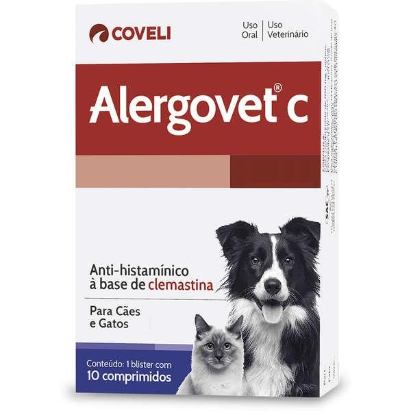 Antialérgico Coveli Alergovet C 10 Comprimidos