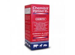 Antibiótico Chemitril Injetável 10% - chemitec 10mL