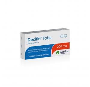Antibiótico Doxifin Tabs para Cães e Gatos com 12 Comprimidos Ourofino 200mg