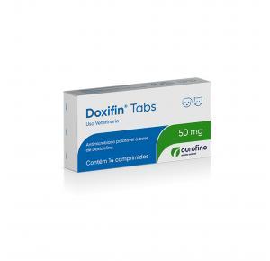 Antibiótico Doxifin Tabs para Cães e Gatos com 14 Comprimidos Ourofino 50mg