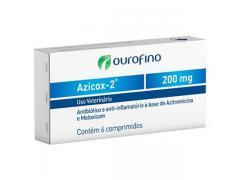 Antibiótico e Anti-inflamatório Ourofino Azicox 2 de 6 Comprimidos - 200 mg