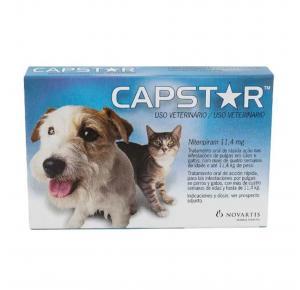 Antipulgas Capstar 11,4mg Cães e Gatos Elanco com 6  comprimidos