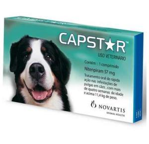 Antipulgas Elanco Capstar 57 mg para Cães acima de 11,4 Kg 1 comprimido