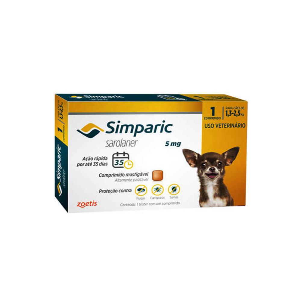 Antipulgas Simparic Cães de 1.3 à 2.5kg 1 Comprimido