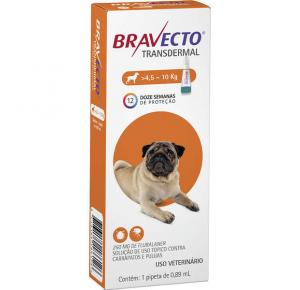 Bravecto Transdermal Antipulgas Cães de 4.5 a 10kg