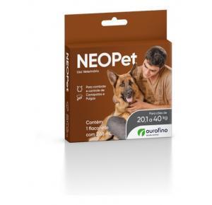 Antipulgas Neopet Cães de 20,1Kg a 40Kg (1flaconete)