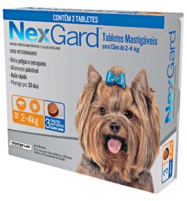 NexGard antipulgas cães de 2 a 4 Kg  - 3Tablets