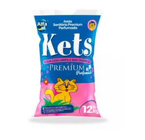 Areia Premium Floral Kets para Gatos 12kg
