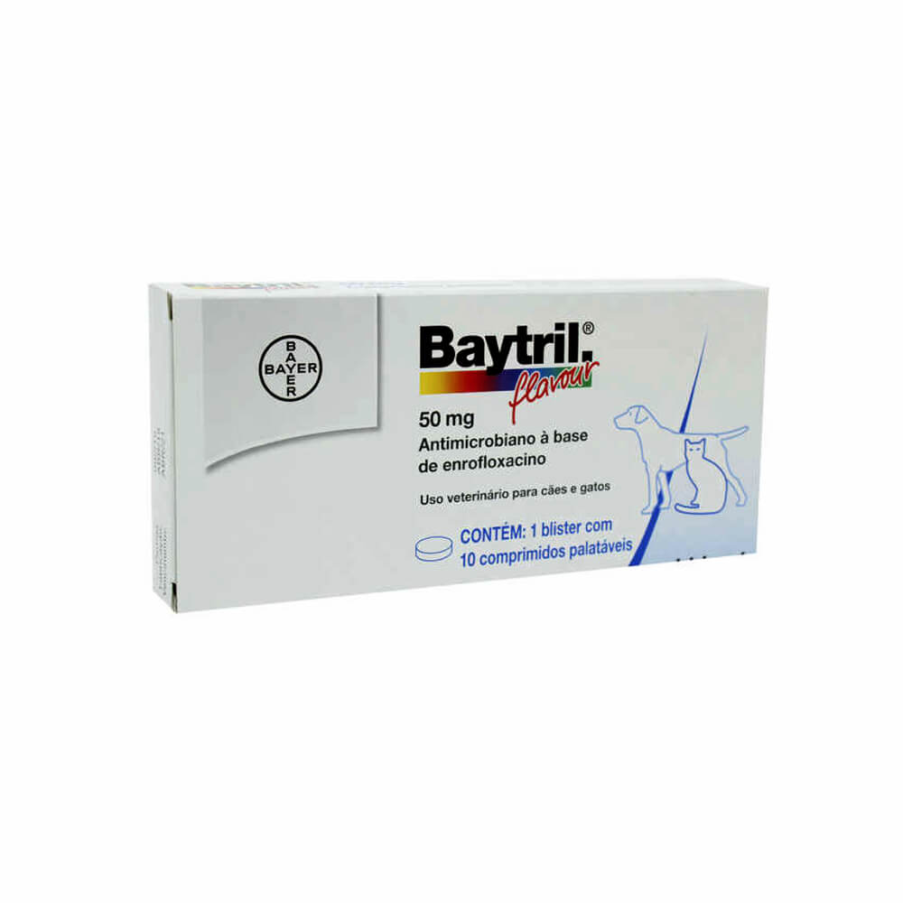 Baytril Flavour com 10 Comprimidos 50mg Bayer