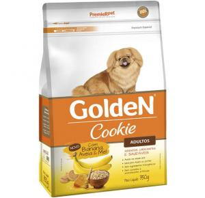 Biscoito Premier Pet Golden Cookie Banana Aveia e Mel para Cães Adultos