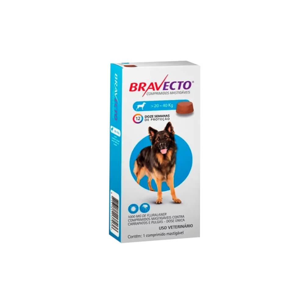 Bravecto Antipulgas Oral para Cães de 20 à 40kg
