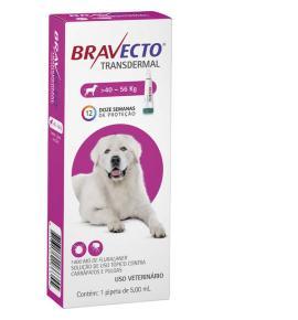 Bravecto Transdermal Antipulgas e Carrapatos para Cães de 40 a 56 Kg