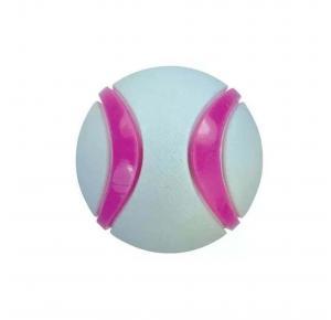 Brinquedo Bola Dual Foam Cinza com Rosa Jambo Pet
