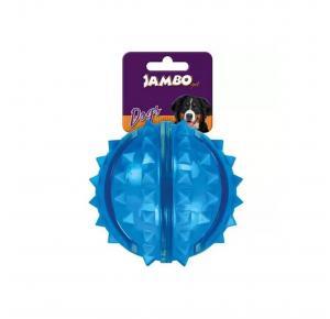 Brinquedo Bola Dura Espinho Azul Grande Jambo Pet