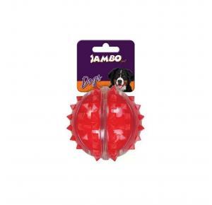 Brinquedo Bola Dura Espinho Vermelha Média Jambo Pet
