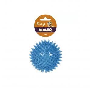 Brinquedo Bola TPR Grande Azul Espinho com Som Jambo Pet