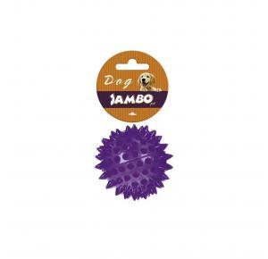 Brinquedo Bola TPR Pequena Lilás Espinho com Som Jambo Pet