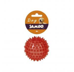 Brinquedo Bola TPR Pequeno Vermelho Espinho com Som Jambo Pet