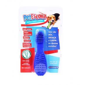 Brinquedo Mordedor Escova Pet Games para Cães - Cores Sortidas P