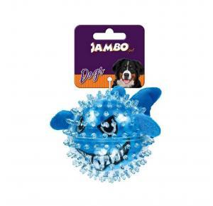Brinquedo Mordedor de Pelúcia Tubarão Spiky Ball Jambo Pet