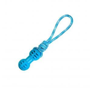Brinquedo Mordedor para Cães Corda TPR Dumbbel Azul Jambo Pet