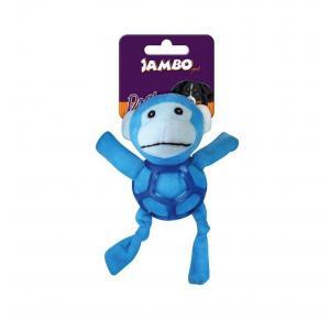 Brinquedo Mordedor para Cães Pelúcia Net Ball Macaco Jambo Pet