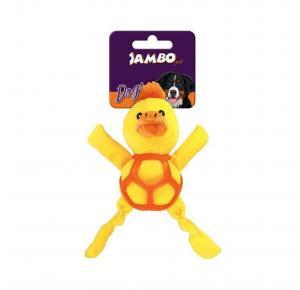 Brinquedo Mordedor para Cães Pelúcia Net Ball Pato Jambo Pet