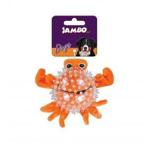 Brinquedo Mordedor para Cães Pelúcia Spiky Ball Caranguejo Jambo Pet